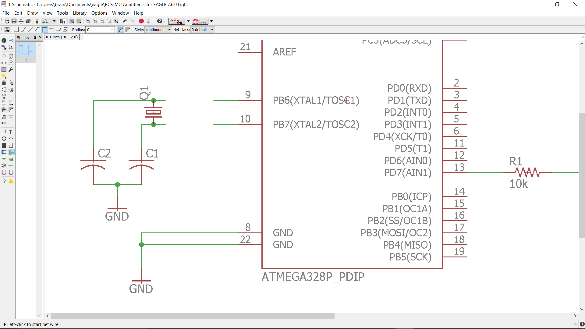 Example Schematic And Board Creation Ece3400 2017 Crystal Oscillator Circuit Diagram The